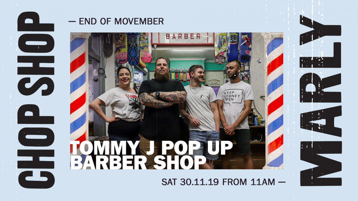 Tommy J and his team in their Barber Shop